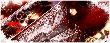 FFVII Dirge of Cerberus Vincent Signature By FFFreak